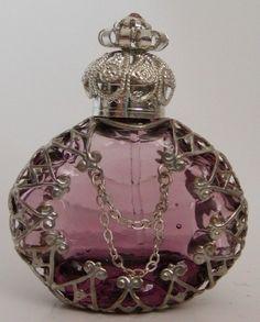 Czech Handmade Jeweled Filigree Perfume/Oil Bottles and Pendants