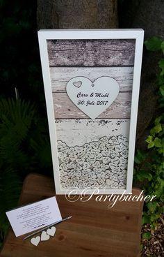 Hochzeitsgästebuch - Hochzeitsgästebuchrahmen, geschenk zur Hochzeit - ein Designerstück von Partybuecher bei DaWanda