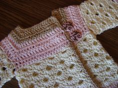 "Free crochet pattern for a newborn sweater! ""The Mini Moogly Sweater"""