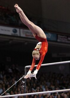 If done well with the bars, this shot of Nastia would be perfect for a silhouette.