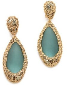 Alexis bittar Neo Bohemian Stone Clip Earrings on shopstyle.com