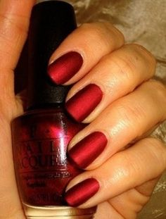 Matte Silk Red by OPI