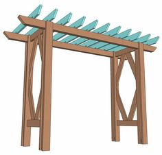 How to build a beautiful DIY pergola ( beginner friendly DIY grape arbor )! Free building plan with step by step drawings and lots of detailed photos. Build it easily for your garden without buying pergola kits! Pergola Canopy, Pergola Swing, Metal Pergola, Outdoor Pergola, Cheap Pergola, Wooden Pergola, Diy Pergola, Pergola Kits, Pergola Ideas