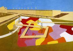 Roberto Burle Marx's design for Ibirapuera Park, Sao Paulo, Brazil, 1953.