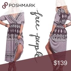 NWT Free People Maxi Dress ➖NWT ➖BRAND: Free People   ➖SIZE: XS  ➖STYLE: She's A Lady Maxi Dress - a purple gorgeous boho chic style Maxi.   ❌NO TRADE  111965. Stripe paisley Free People Dresses Maxi