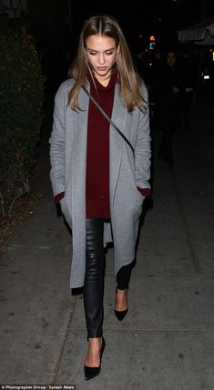 Casual chic: The 35-year-old actress and Honest Company co-founder wore a purple sweater ...