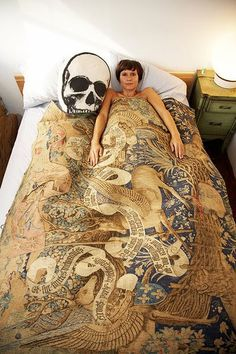 georgie greville « the selby I want that skull pillow Tapestry Bedding, Bedspread, Moon Tapestry, Comforter, Skull Pillow, New Roots, Inspired Homes, Glamour, Elegant