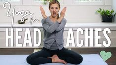 Yoga For Headaches. Try this nurturing yoga practice when you have a headache. Yoga is an amazing tool for healing and with regular practice we can even begin to prevent the ach. Yoga Sequences, Yoga Poses, Yoga For Headaches, Free Yoga Videos, Yoga With Adriene, Headache Relief, Headache Yoga, Natural Headache Remedies, Yoga For Beginners