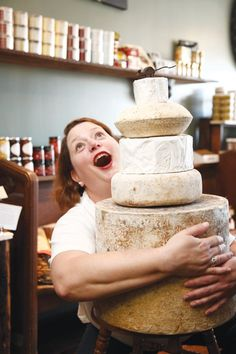 Jill Gedra Forster, owner of  Nickel City Cheese, has found  her calling as a cheese monger.  The treats she carries include  goat cheese truffles.