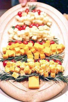 apéritif de fêtes légumes et fromage