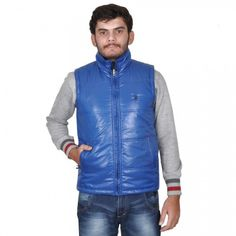 US Polo Royal Blue Quilted Jacket