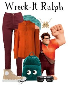"""""""Wreck-It Ralph - Disney's Wreck-It Ralph"""" by rubytyra ❤ liked on Polyvore featuring A.F. Vandevorst, Anya Hindmarch, Chloé and Nintendo"""