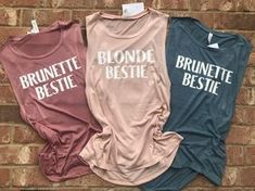Bestie tee - Bestie Shirts - Ideas of Bestie Shirts - Excited to share this item from my shop: Bestie tee Best Friend T Shirts, Bff Shirts, Best Friend Outfits, Best Friend Gifts, Cute Shirts, Funny Shirts, Best Friend Clothes, Sister Gifts, Brunette To Blonde