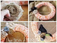 The 36th AVENUE | Fabric Wreath TUTORIAL