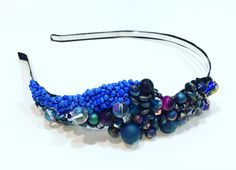 Peacocks hairband with agate and beads. @botwinkaa
