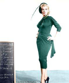 Marilyn Monroe costume test for Gentlemen Prefer Blondes