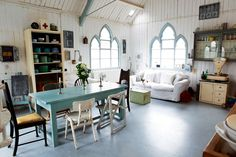 Creating a home from a dilapidated building that was previously used for an entirely different purpose can be a huge challenge