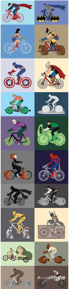 Superhéroes y sus bicicletas | Risa Sin Más
