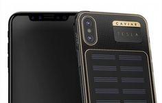 iPhone X Tesla dengan Panel Surya di Bagian Belakang