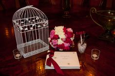 #guestbook #wedding #flowers #birdcage #Arizona #VillaSiena