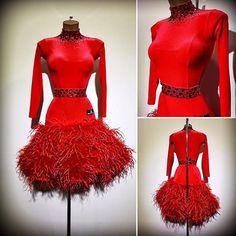 #abrahammartinez #newdress #latin #red #velvet #luxury #feathers #cristal #lightsiam #swarovski #design #designer #forsale FOR SALE!!