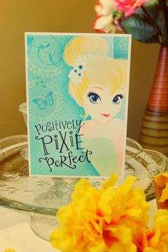 Cute sign at a TInkerbell girl birthday party!  See more party planning ideas at a CatchMyParty.com!