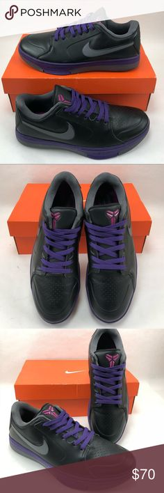 Nike Zoom Kobe KB 24 Low Purple NBA MVP Men's  8.5 Like NEW. Nike Zoom Kobe KB 24 Low 442470-004 Purple & Black Mens shoes size 8.5. Kobe Bryant 2011 shoes NBA MVP of the All-Star game! Includes authentic Nike box (not original box). Actual photos, check them out! Nike Shoes Sneakers