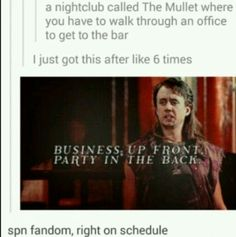 SPN, right on schedule.