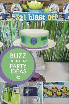 boys buzz lightyear theme birthday party | Spaceships and Laser Beams