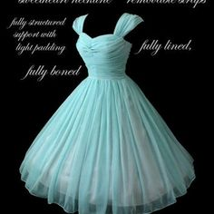 Vintage 1950's 50s Style Ruched Chiffon Party Prom Dress... Deliciously offered in these Colors...
