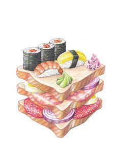 SANDWICH by MARIVILLA, via Behance