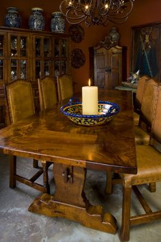 Mesquite Table And A Great Way To Use Decorative Bowl
