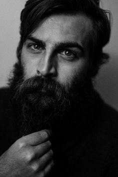 BEARDREVERED on TUMBLR | pkottphoto: www.patrykkott.com... Gay Beard, Epic Beard, Moustaches, Goth Guys, Goth Men, Awesome Beards, Metalhead, Dark Fashion, Beard Styles