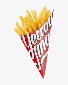 French Fries Carton Cone Mockup (Preview)