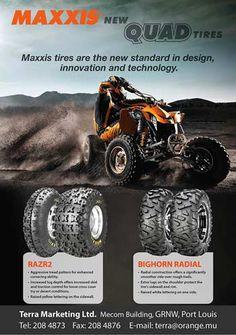 Terra Marketing - Quad Tires. Tel: 208 4873