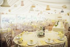 Vintage yellow inspired wedding - real weddings by www.thevintagehire.com photograph by Gemma Williams