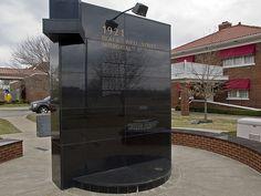 Monument dedicated to the great historic Black Wall Street, Tulsa, Oklahoma