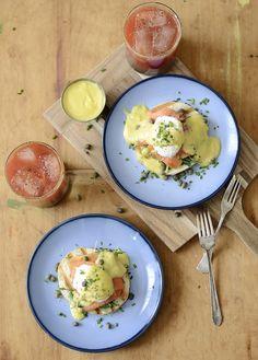 Eggs Benjamin with smoked salmon