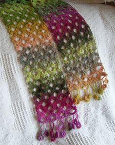 Intermezzo Crocheted Scarf Pattern by JennyBrownPatterns on Etsy Quick Crochet, Bead Crochet, Crochet Lace, Crochet Scarves, Crochet Shawl, Crocheted Scarf, Baby Knitting Patterns, Knitting Yarn, Crochet Patterns