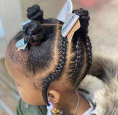 Black Baby Girl Hairstyles, Little Girls Natural Hairstyles, Cute Toddler Hairstyles, Kids Curly Hairstyles, Little Girl Braids, Girls Braids, Natural Hair Styles, Brown Girl, Cornrows