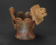 Feline Incense Vessel, 6th–9th century. Bolivia or Peru. Tiwanaku. The Metropolitan Museum of Art, New York. The Michael C. Rockefeller Memorial Collection, Gift of Nelson A. Rockefeller, 1969 (1978.412.100) #cats