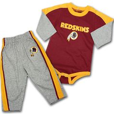 Redskins Baby Creeper and Pant Set