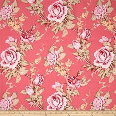 Verna Mosquera Rustic Blush Antique Rose Berry from @fabricdotcom  Designed by Verna Mosquera for Free Spirit, this cotton print fabric is perfect for quilting, apparel and home decor accents. Colors include red, cream, shades of brown, shades of pink, and shades of orange.
