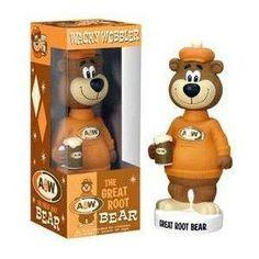 A the Great Root Bear Wacky Wobbler Bobble Head Vinyl Toys, Vinyl Art, Popeye Olive Oyl, Bratz Girls, Wacky Wobbler, A&w Root Beer, Fantasy Dragon, Retro Toys, Bobble Head