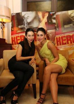 Kareena Kapoor and Madhur Bhandarkar Promoting Heroine in Dubai. | Bollywood Cleavage