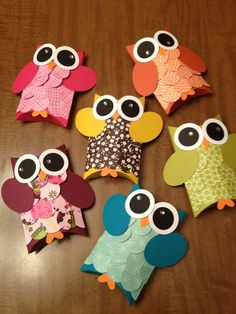 Owl Favor Box Pillowboxes Owl Birthday Party Baby by JLMpartyshop, $24.00
