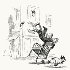 Part 5: The fatal mistake… A tale of a cat    From Stuff and Nonsense, written and illustrated by Arthur Burdett Frost, New York, 1884.