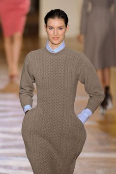 Stella McCartney - aran style knitted dress with shaping at hip for pockets
