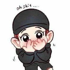 Chanyeol fanart Chanbaek Fanart, Baekhyun Fanart, Park Chanyeol Exo, Kpop Fanart, Suho, Hunhan, Exo Stickers, Cute Stickers, Exo Cartoon