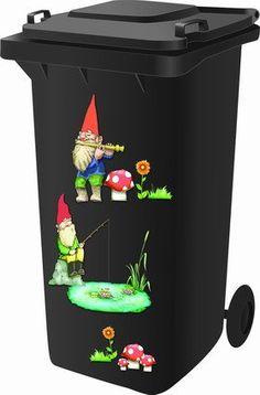 Wheelie Bin Stickers - Gnomes